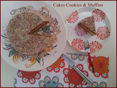 Reto Sprinkle, tarta de Cakes, cookies & Muffins