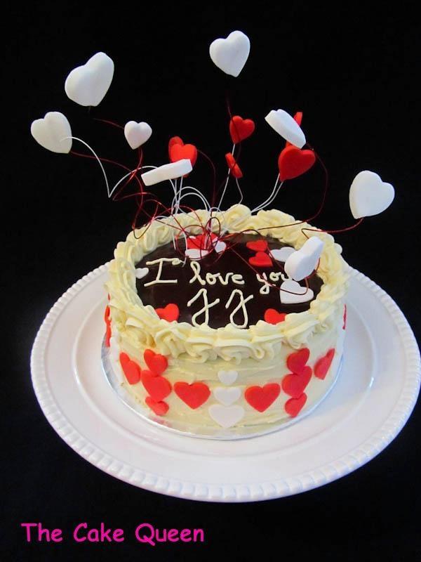 decoraciones explosivas, tarta de san valentín