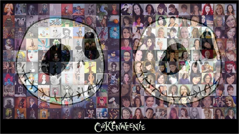 Cakenweenie tartas, las 100 piezas juntas con los 100 creadores de las mismas