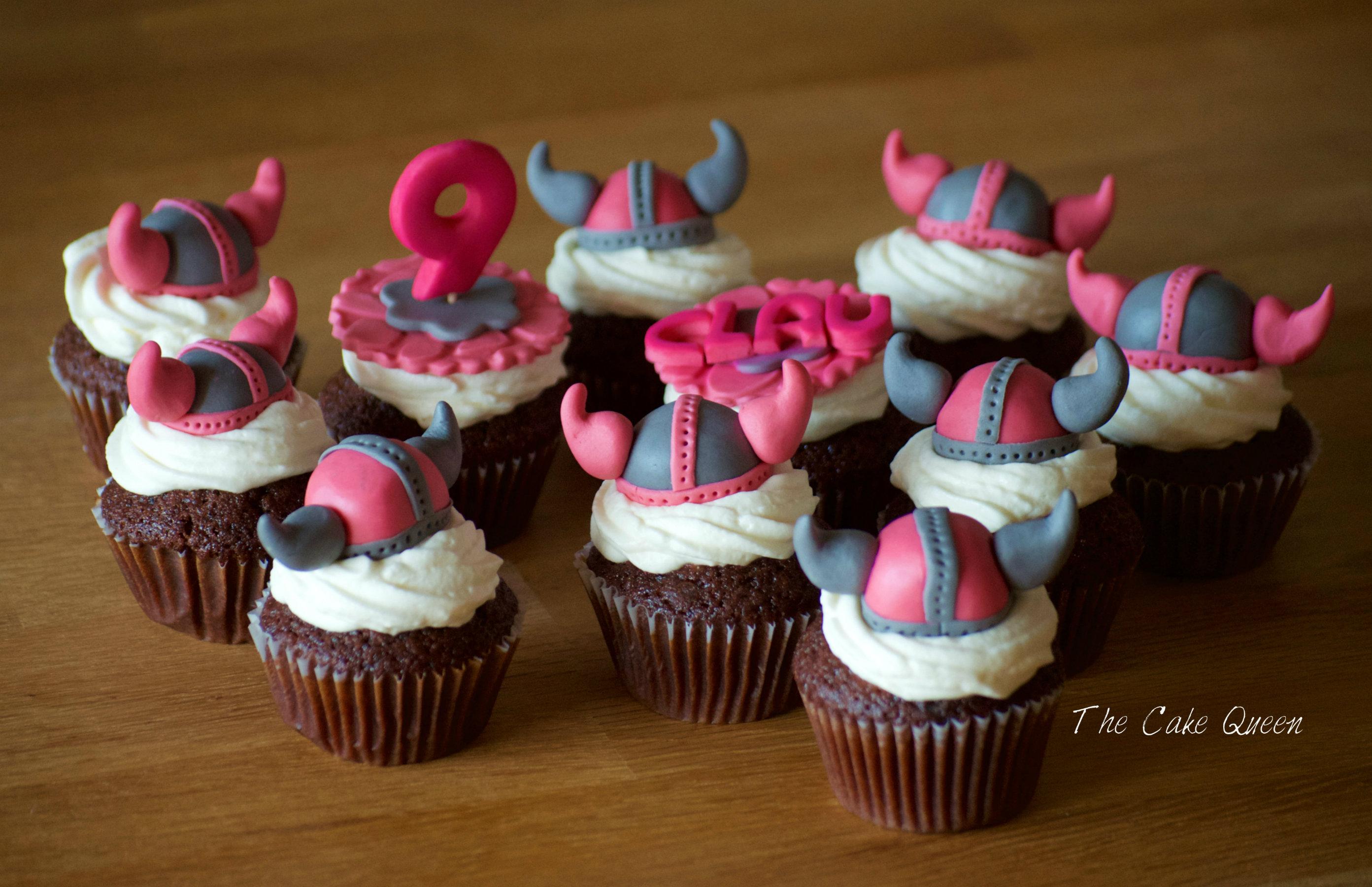 Mini Cupcakes de chocolate con crema fresca