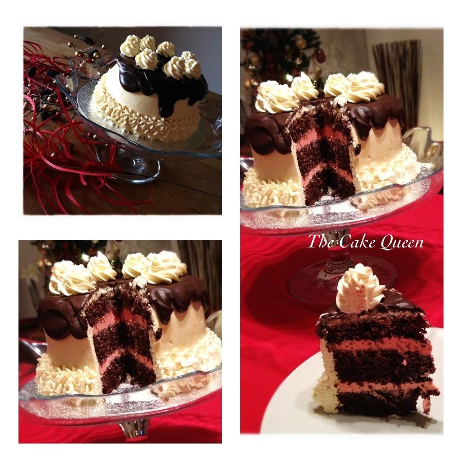 collage tarta de chocolate