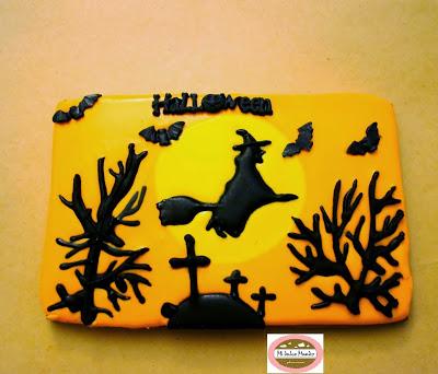 Galleta de Mi dulce mundo para el reto de Halloween