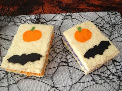 Sandwiches de Halloween de The Cookies family para el reto de Halloween