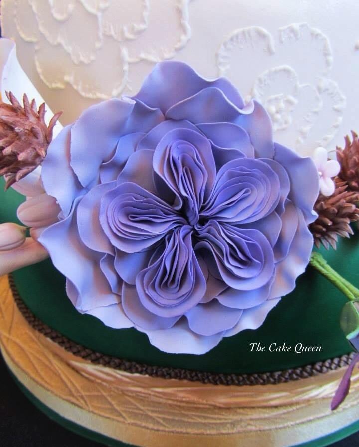 Mi tarta para Expotarta 2014, la rosa inglesa