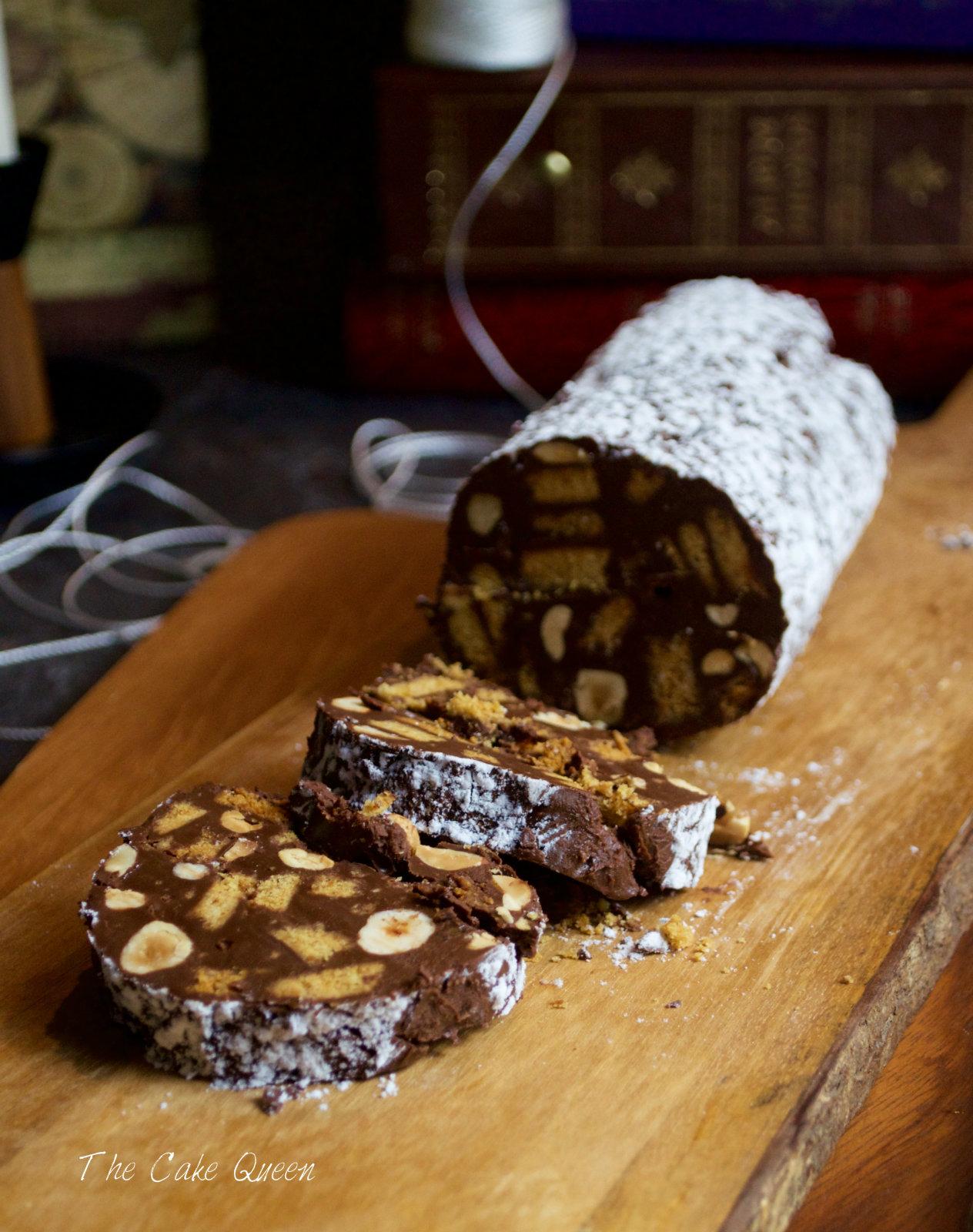 Salami de chocolate un trampantojo muy dulce