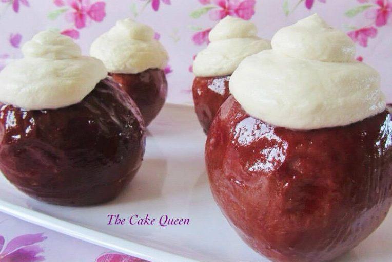 Manzanas asadas, super ligeras y bajas en calorías