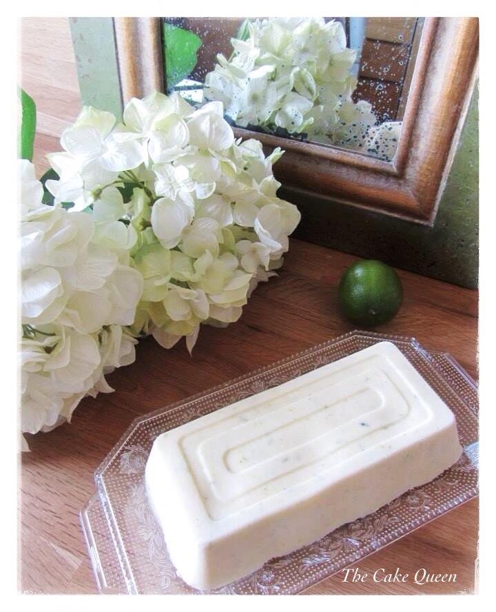 Helado de crema fraiche y limón-lima