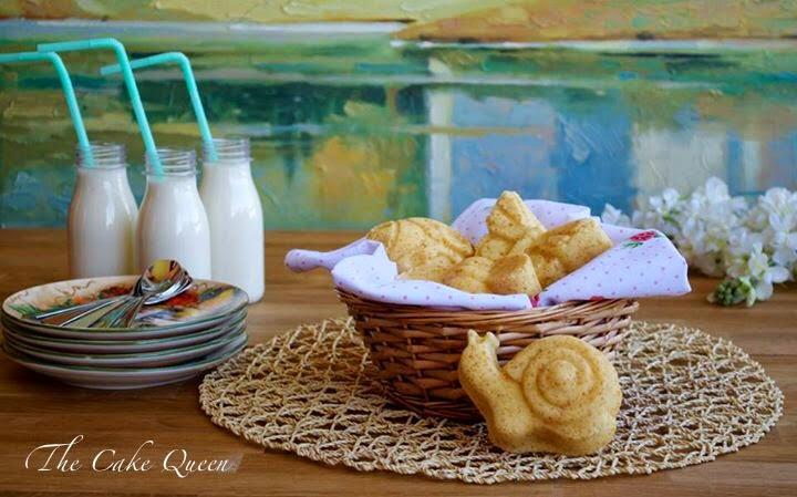 Mini garden cakes de limón y fruta de la pasión, perfectos para desayunar o merendar