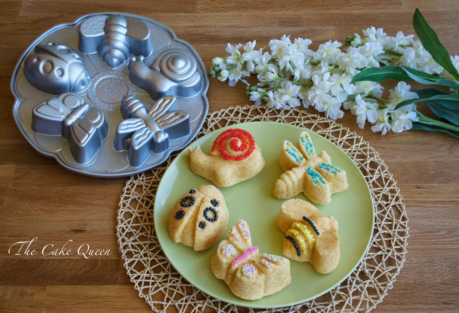 Mini garden cakes de limón y fruta de la pasión, en esta foto te enseño el molde que usé para realizar estos mini bizcochos
