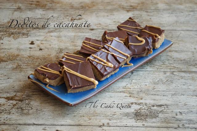 Deditos de cacahuate y chocolate
