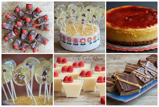 Collage con los postres que formaron parte de la mesa dulce