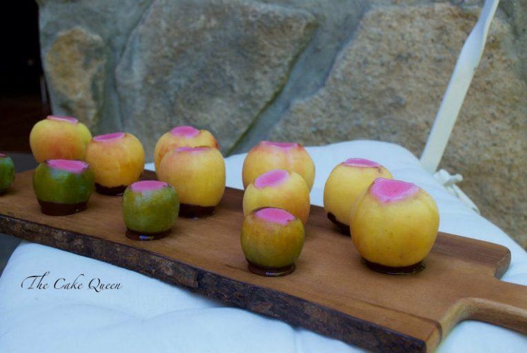 Shots de gelatina de fresas y vodka