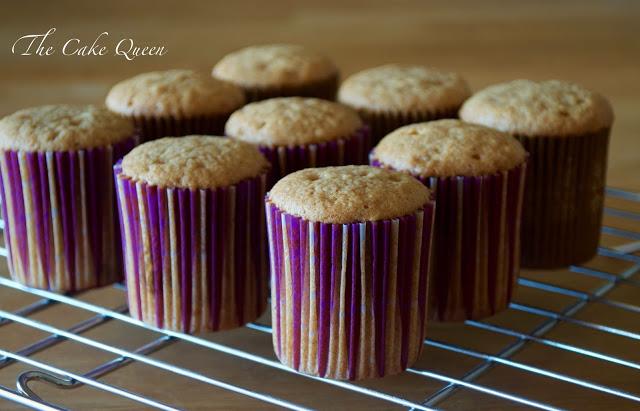 Cupcakes de jengibre y canela, recién sacados del horno