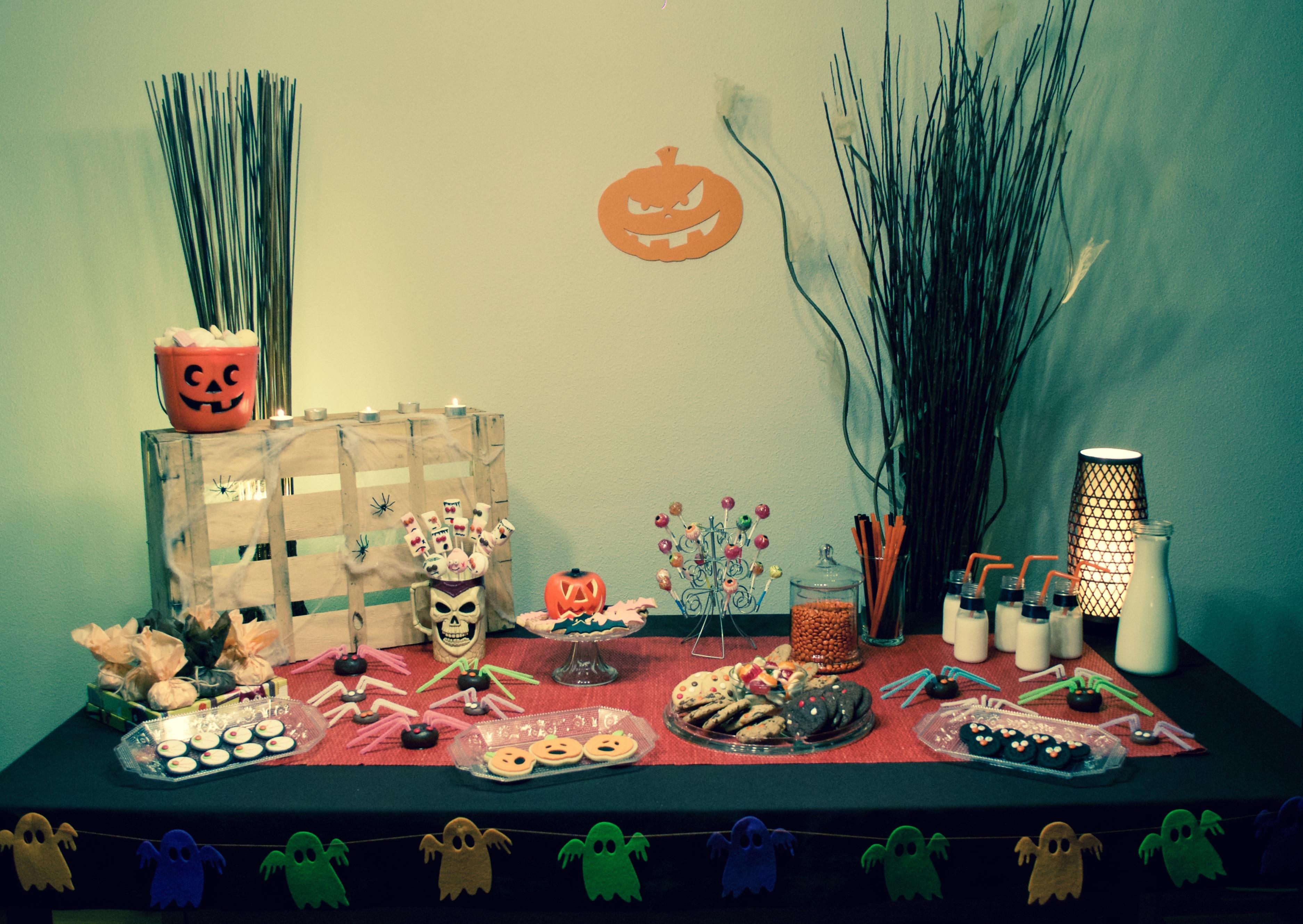 Mesa dulce para Halloween