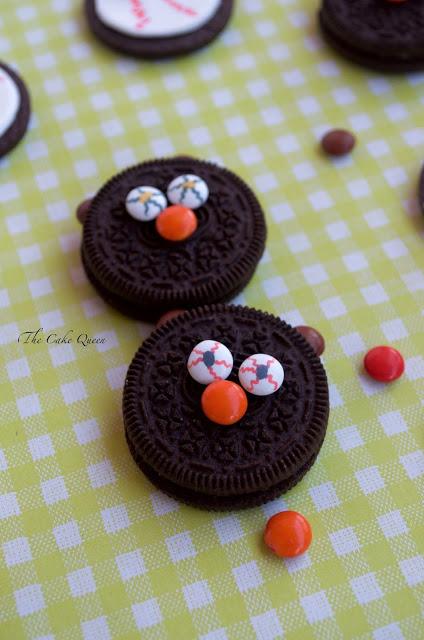 Ideas para Halloween con mini lacasitos: Galletas terroríficas