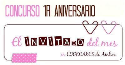Logo del 1er. concurso de Ainhoa del blog Cookcakes de Ainhoa