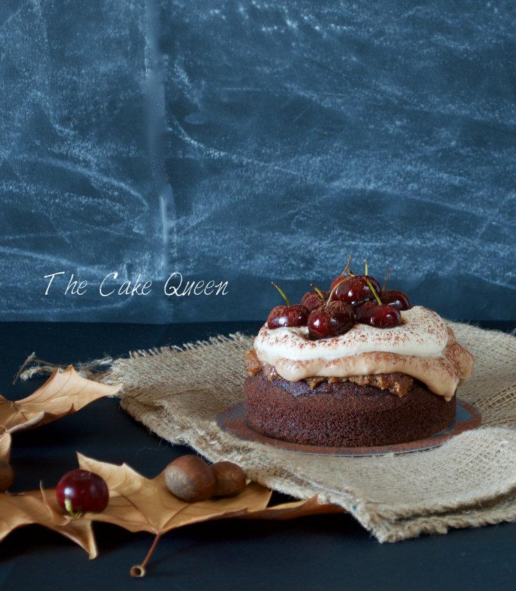Tarta de mousse de castañas y ron, una tarta muy especial para celebrar los dos años del blog de mi amiga Ana
