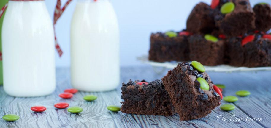 Brownie con lacasitos