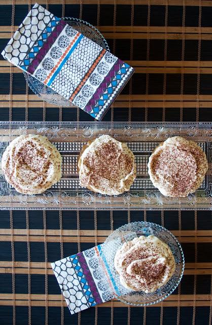 mini tartas banoffe pie y dulce de leche, vista cenital