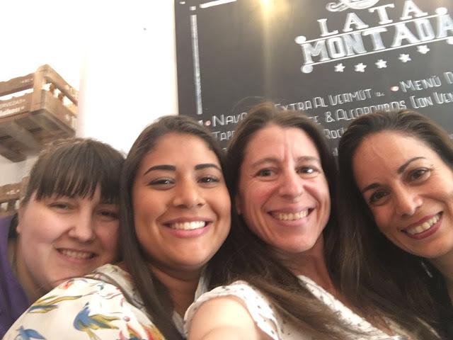 Nosotras cuatro juntas en la reunión clandestina de reposteros de Madrid
