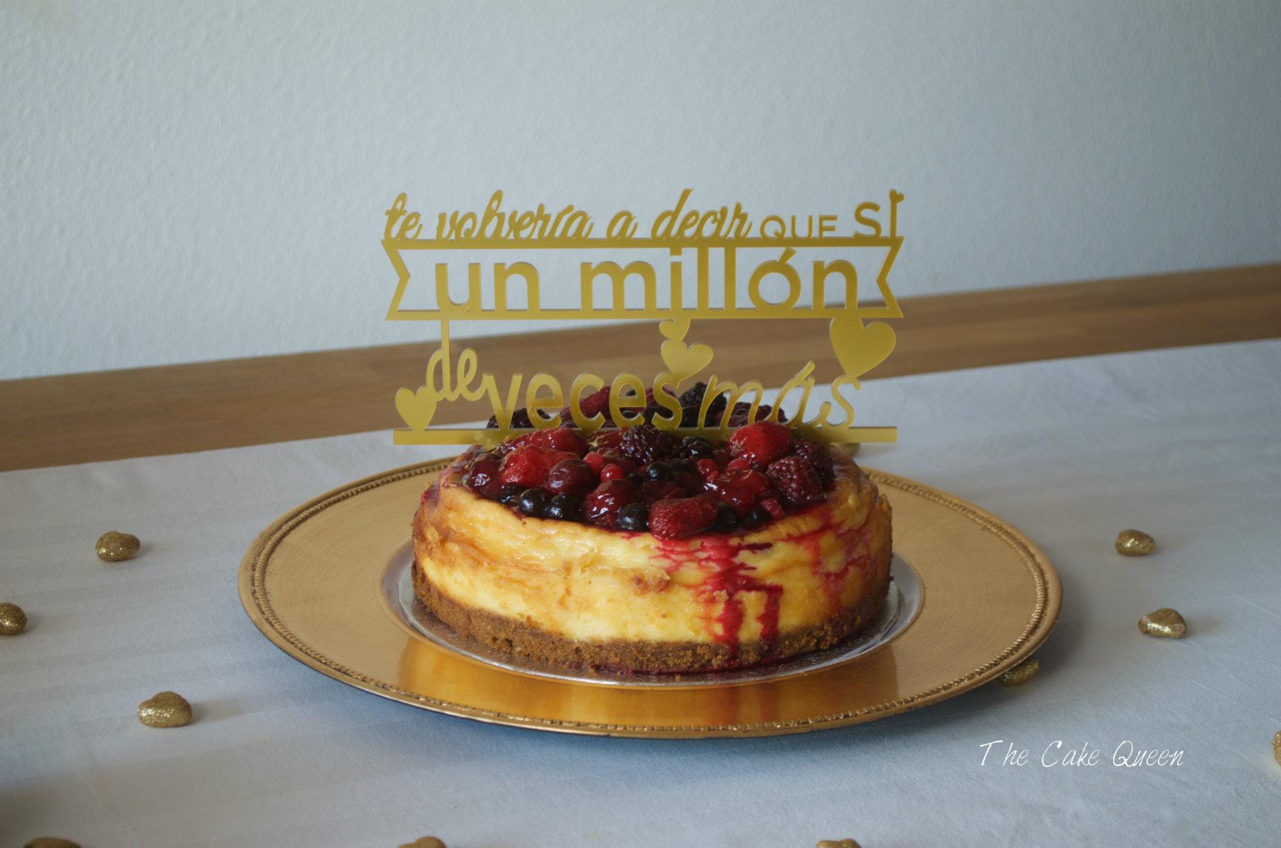 Cheesecake al estilo New York con frutos rojos