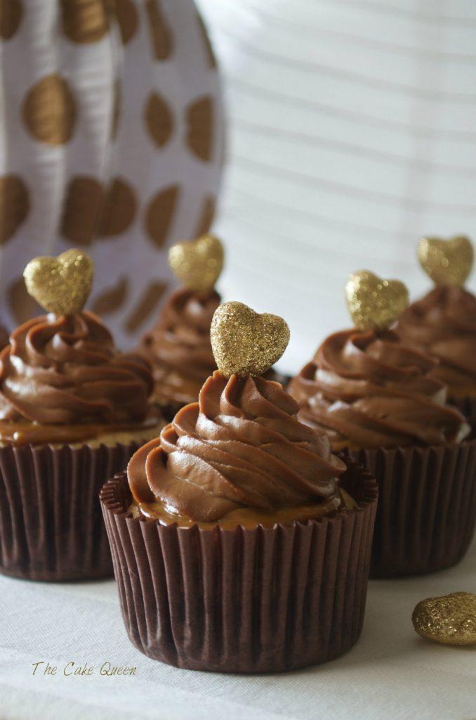 Cupcakes de toffe y avellanas