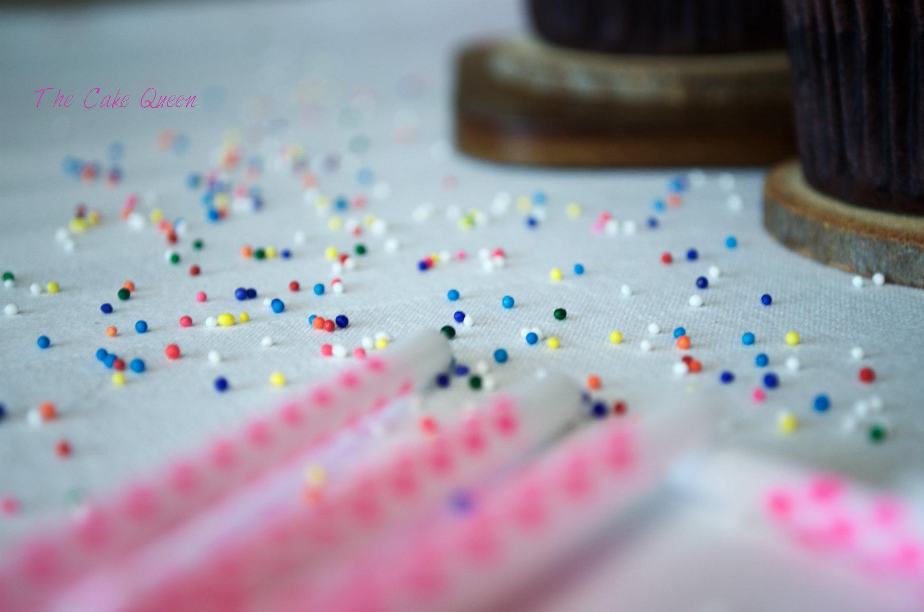 Sprinkles de colores y velas