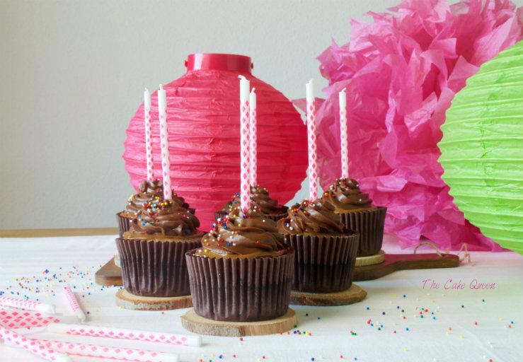 Cupcakes de toffee y avellanas