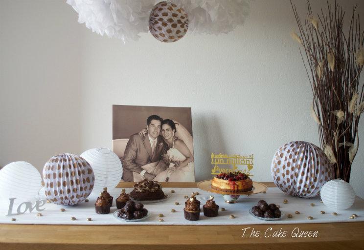 Mesa dulce aniversario de bodas