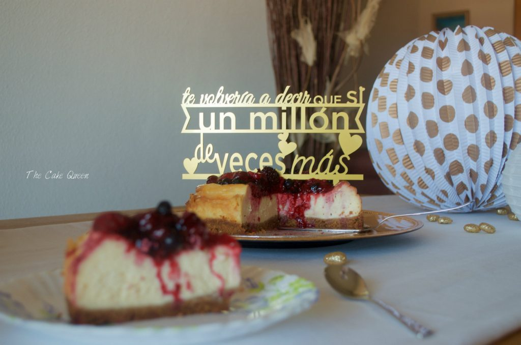 Cheesecake al estilo New York con frutos rojos