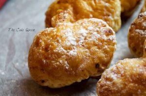 hojaldritos de calabaza rellenos de queso quark y arándanos