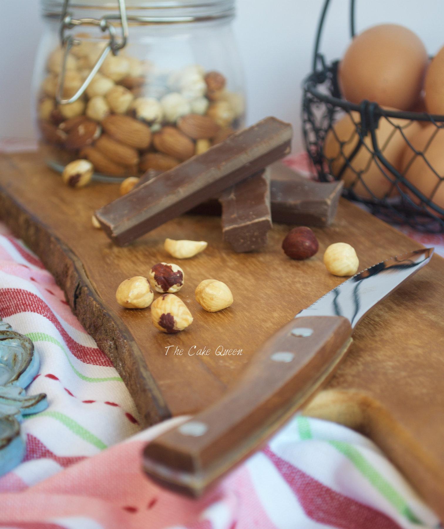 Avellanas para la tarta de chocolate y merengue