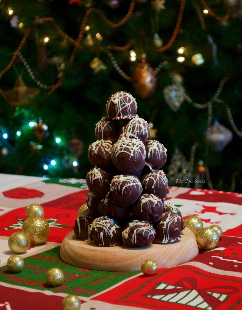 Arbolito de Navidad de trufas