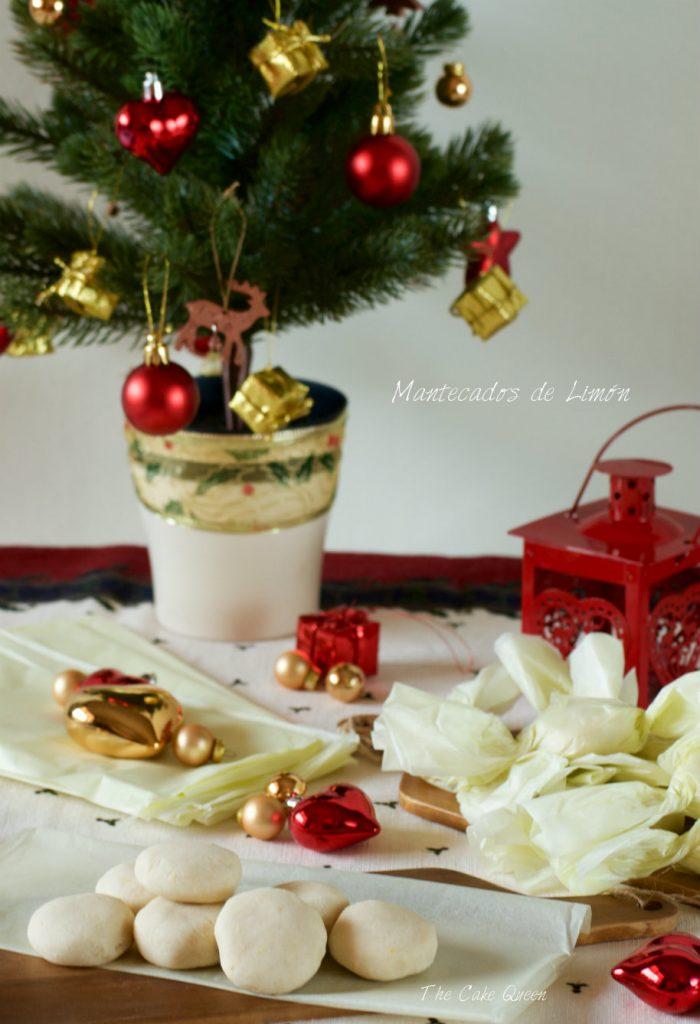 Mantecados caseros: mantecados de limón