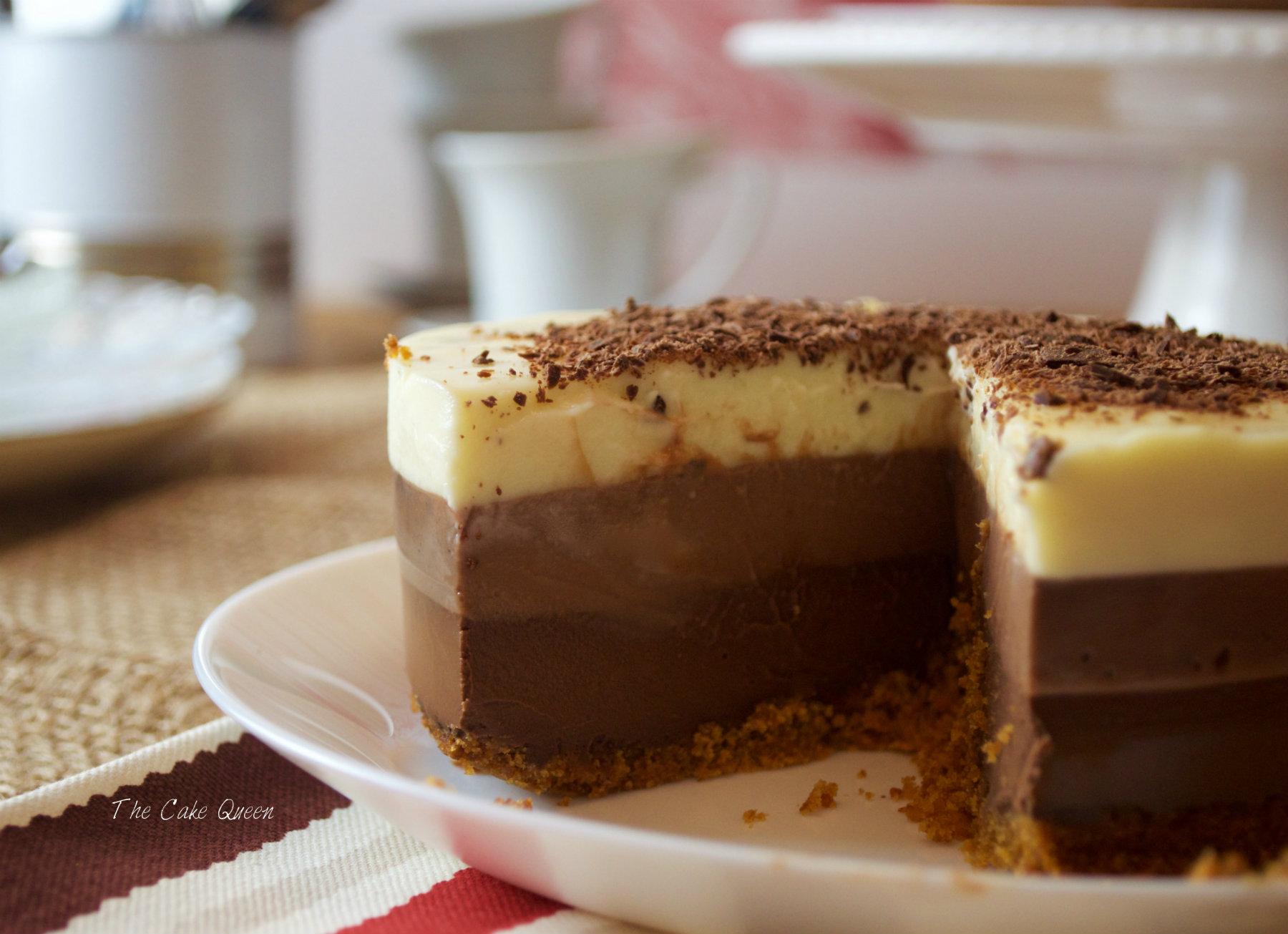 Tarta tres chocolates, un clásico que nunca falla