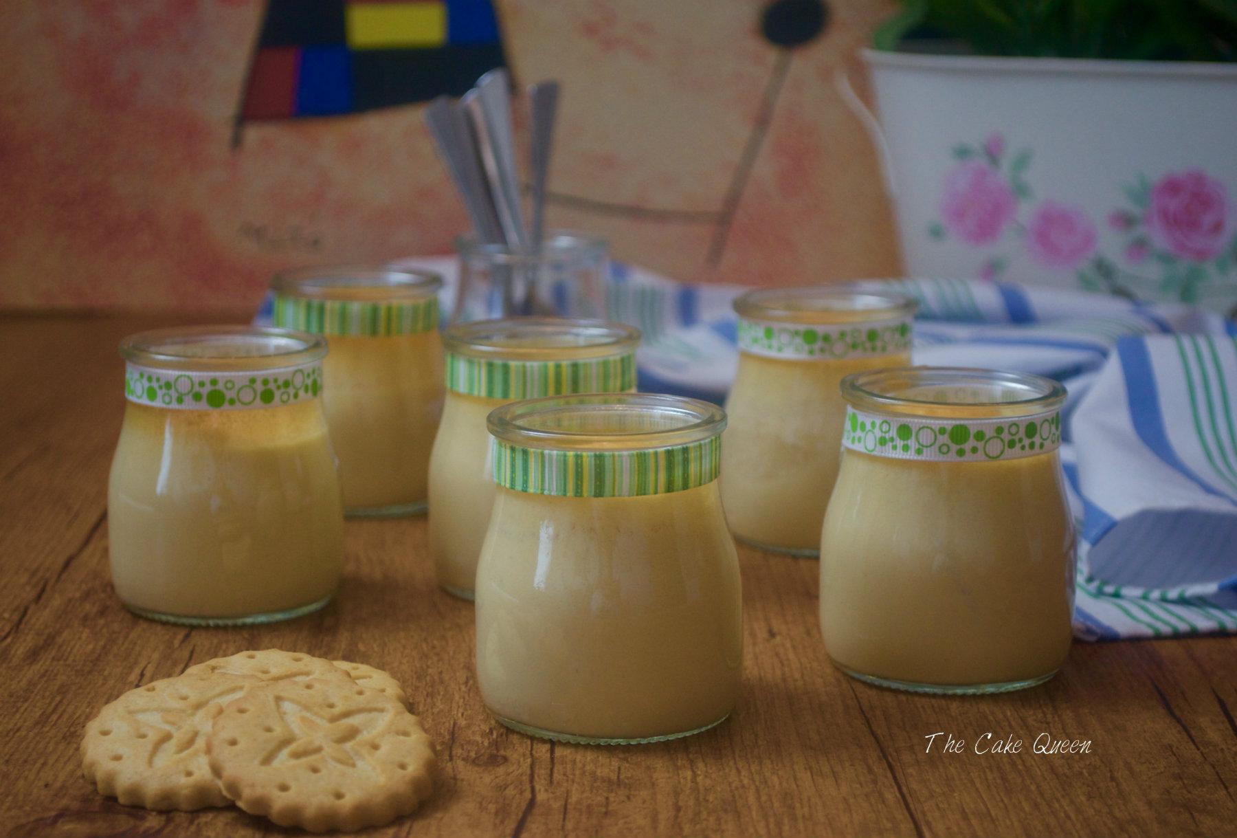 Flan de galletas y yogur, especial para diabéticos