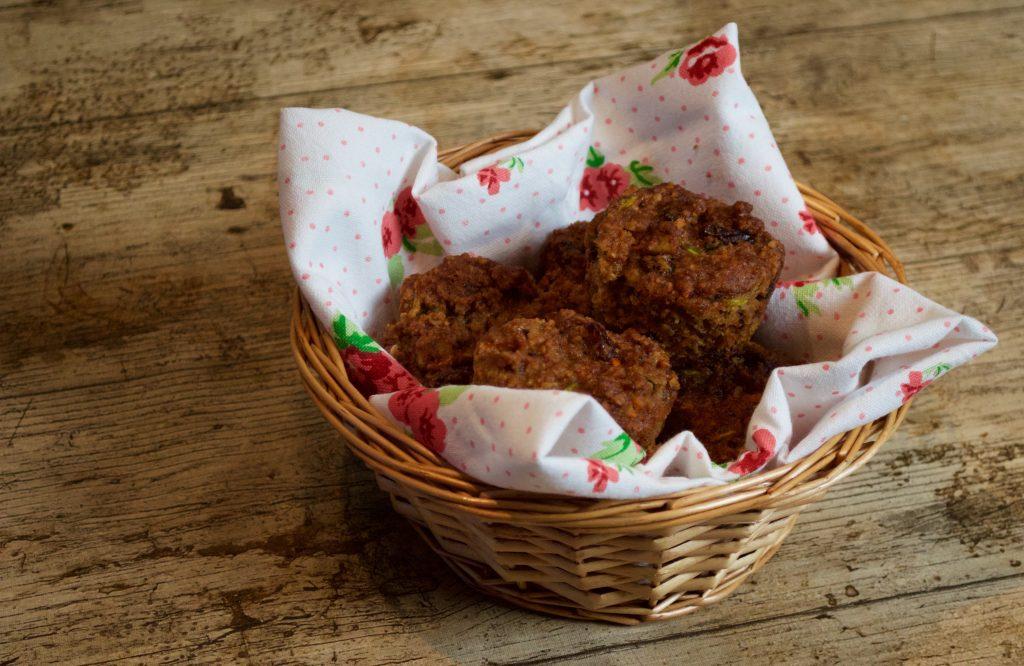Muffins de zanahoria y calabacín sin gluten
