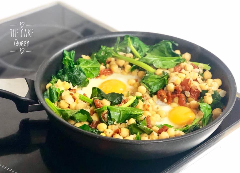 garbanzos con huevos y espinacas 2