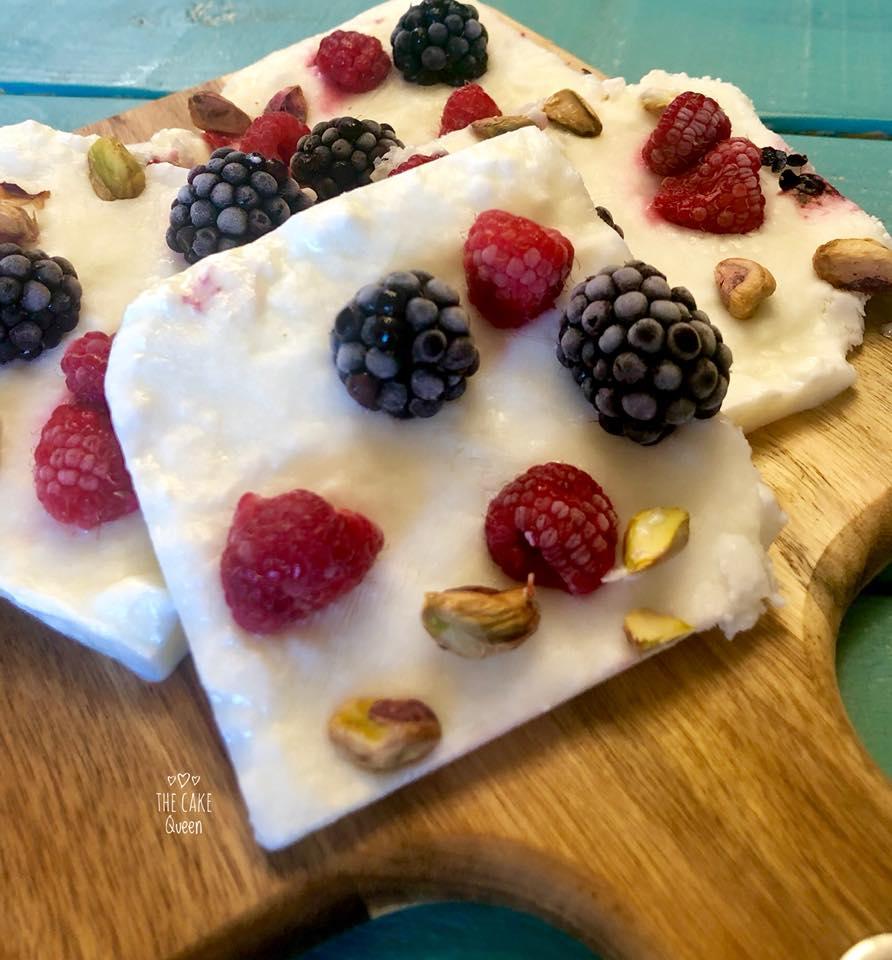 Barritas de yogur y frutos rojos