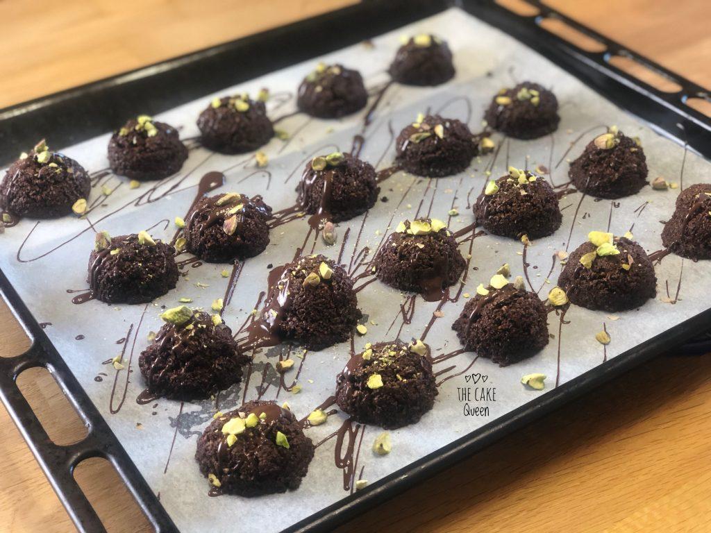 Macaroons de coco y cacao sin gluten y sin lactosa